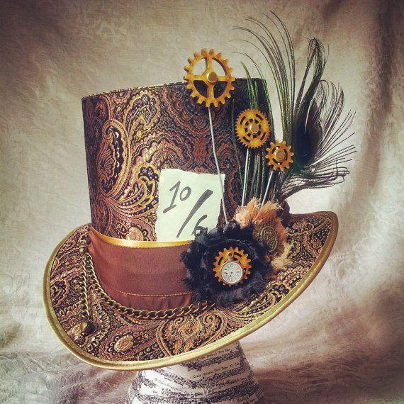 top hat mad hatter hat alice in wonderland by. Black Bedroom Furniture Sets. Home Design Ideas