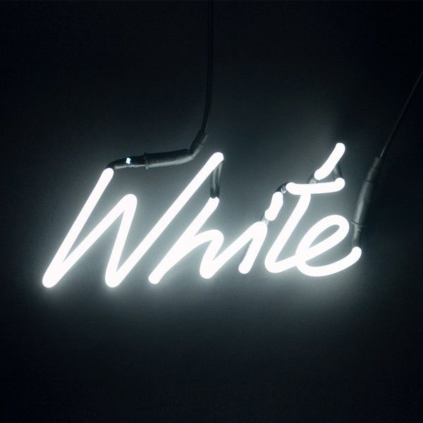 Neon Colour Word Lamp White Neon Lamp White Wall Lights Light Letters