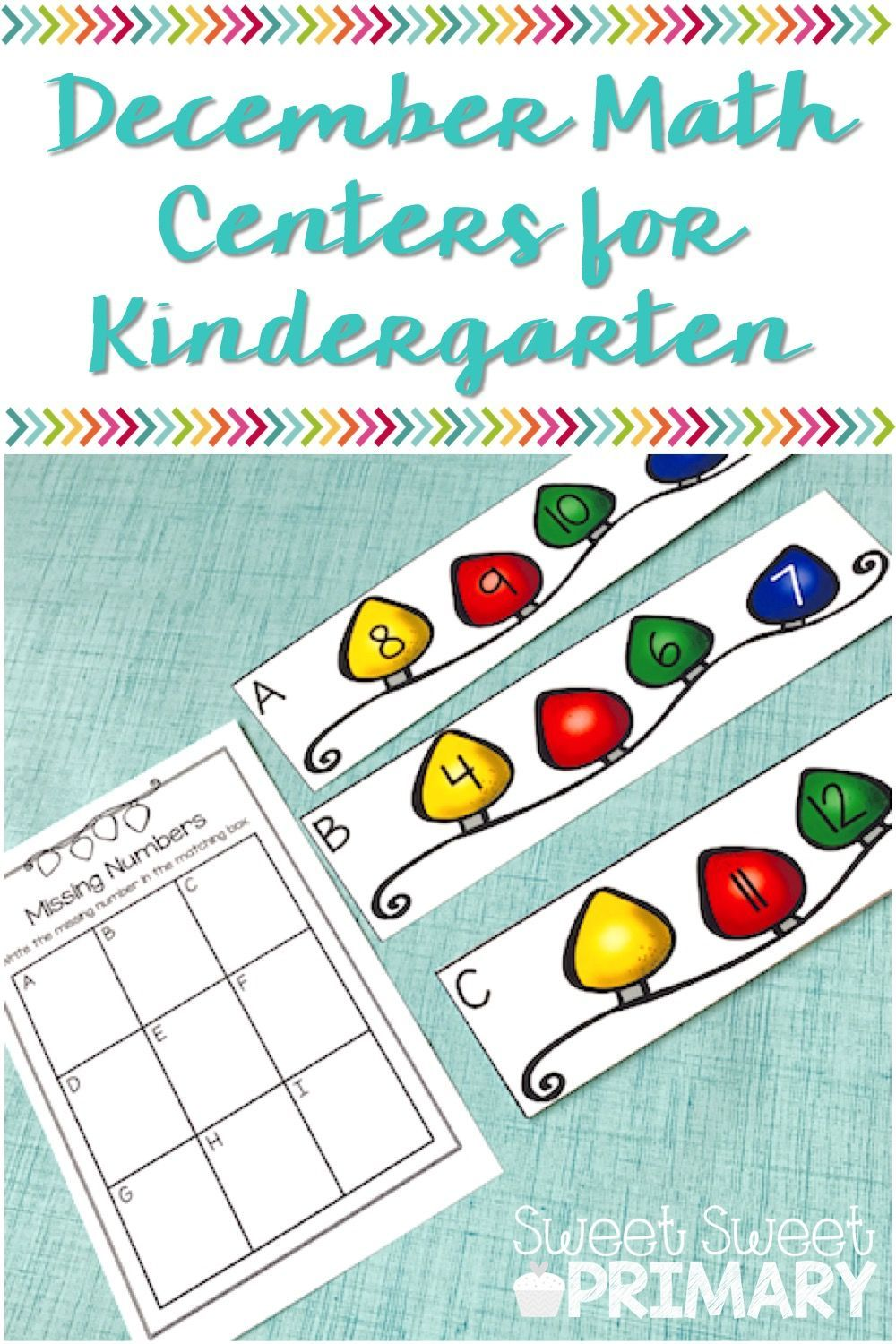 December Math Centers for Kindergarten | Holidays at school ...