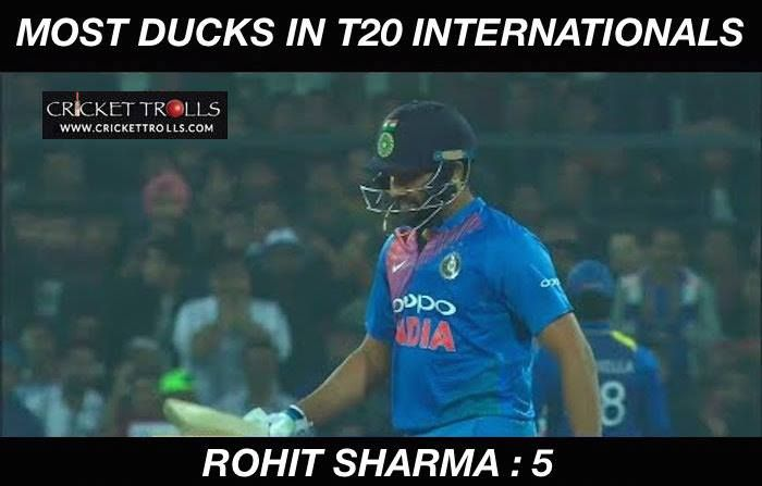 Image result for rohit sharma duck