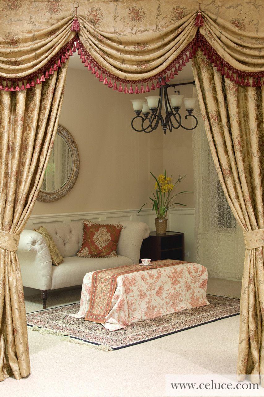 Versailles rose austrian swag style deko pinterest - Gardinen barock ...