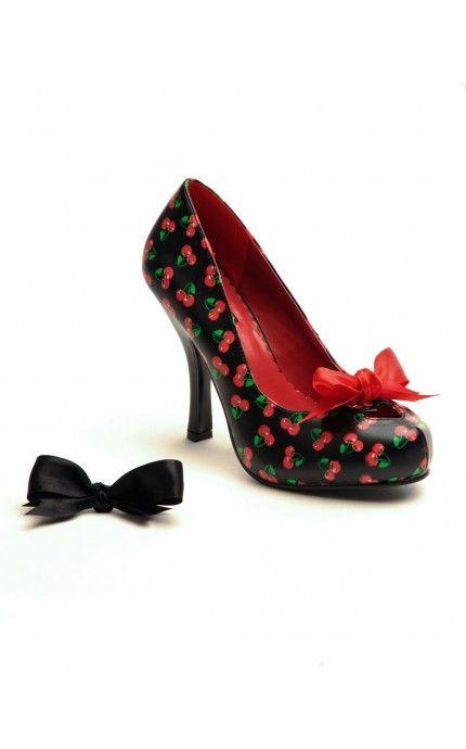 Black Cherry Cutiepie Pumps - Shoes | Pinup Girl Clothing