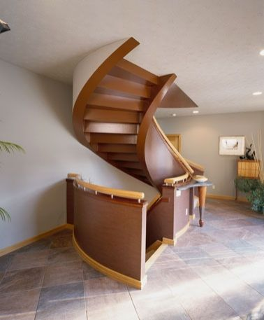 Lovely open underside stairwell design custom stairs and for Custom staircase design
