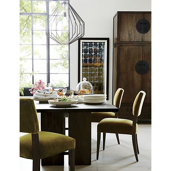"Monarch 108"" Dining Table In Dining Tables  Crate And Barrel Alluring Barrel Dining Room Chairs Inspiration"