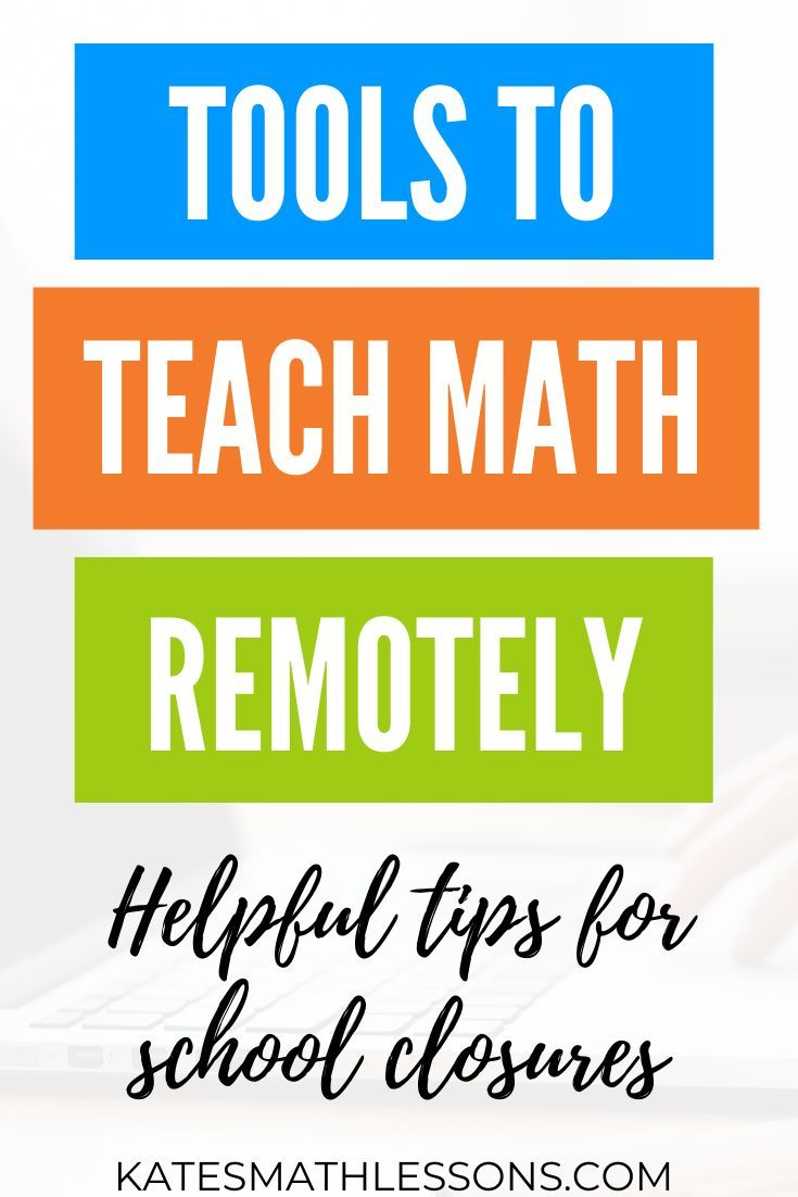 Free Resources for Teaching Math Remotely