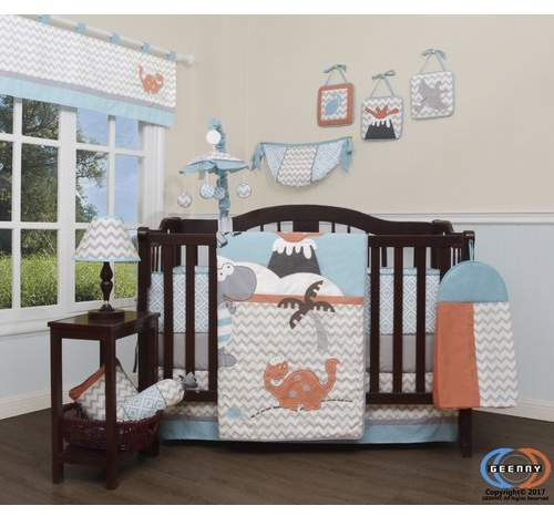 Hollywood Baby Boy Dinosaurs Nursery 12 Piece Crib Bedding Set Crib Bedding Sets Baby Boy Bedding Dinosaur Nursery