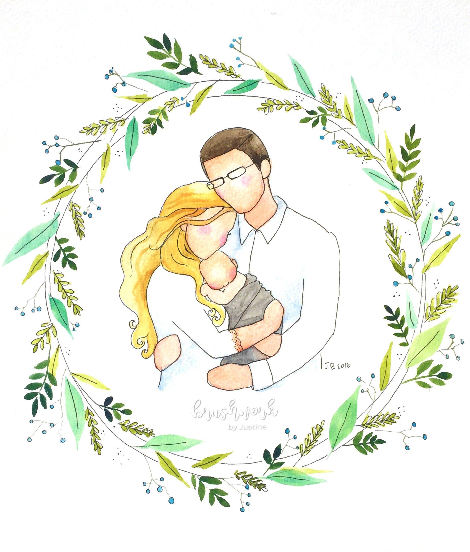 Картинки семейные пары рисованные