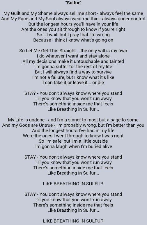 Sulfur Slipknot With Images Slipknot Lyrics Metallica