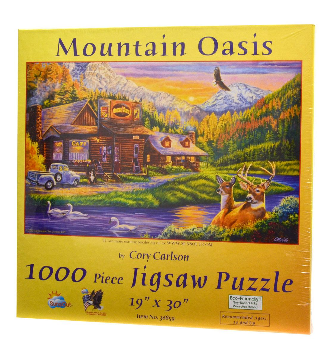 Mountain Oasis Jigsaw puzzles, Oasis, Scenery