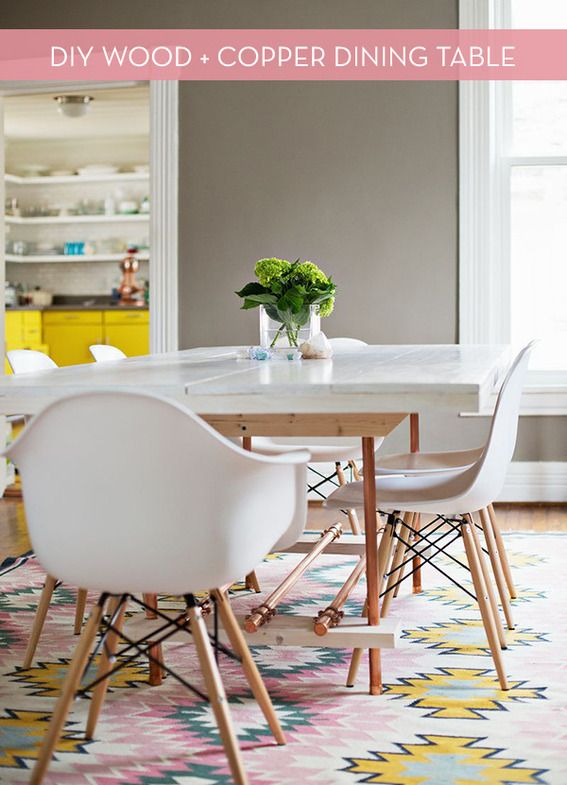 If Those Projects Were On Too Small Of A Scale For You, Consider Trying  Your Hand At This DIY Dining Room Table.