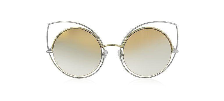 2457ea834b1d Marc Jacobs MARC 10/S TWMFQ Gold & Silver Metal Cat Eye Women's Sunglasses