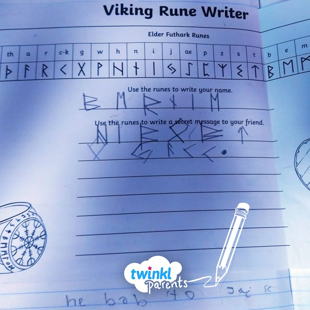See If Your Child Can Write Their Name In Viking Runes