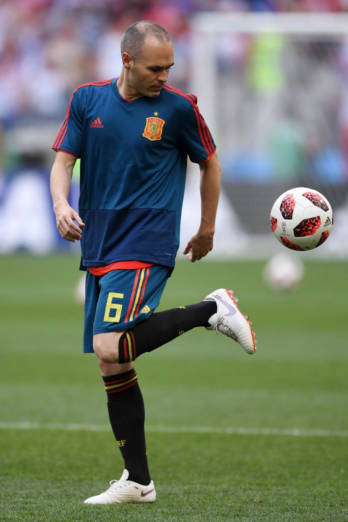 Moscow Russia July 01 Andres Iniesta Of Spain Warms Up Ahead Of The 2018 Fifa World Cup Russia Round Of 16 Match Betwe Iniesta Andres Iniesta Xavi Iniesta