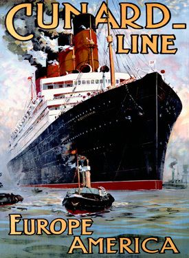"""Aquitania was the third in Cunard Line's """"grand trio"""" of express liners, preceded by the RMS Mauretania and RMS Lusitania, and was the last surviving four-funnelled ocean liner. Description from pinterest.com. I searched for this on bing.com/images"""