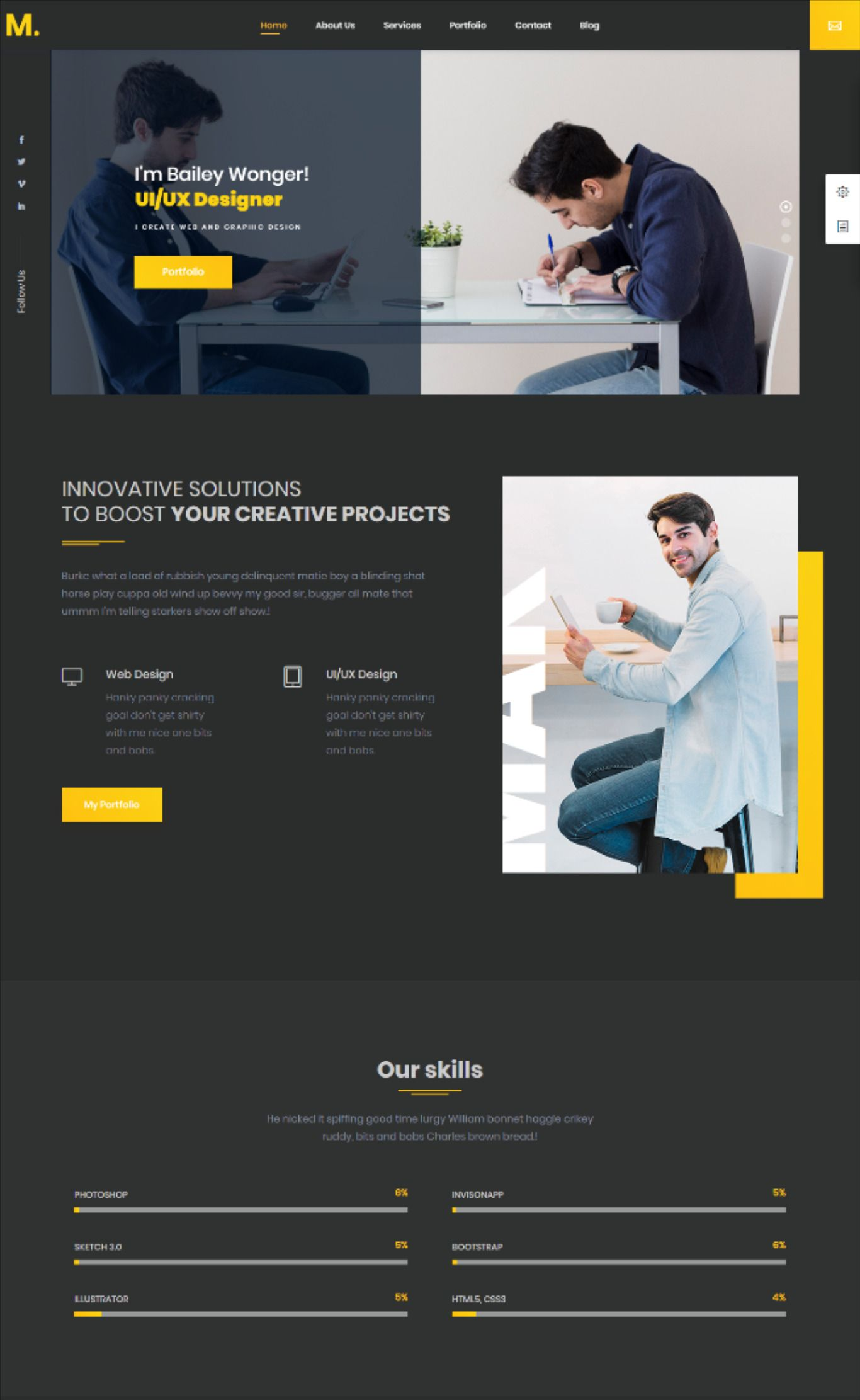 Pin by Droitthemes on Website Design! Portfolio resume