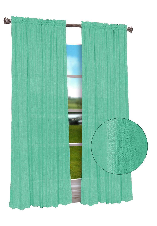 Calitime High Class Linen Blend Rod Pocket Window Curtain Panel