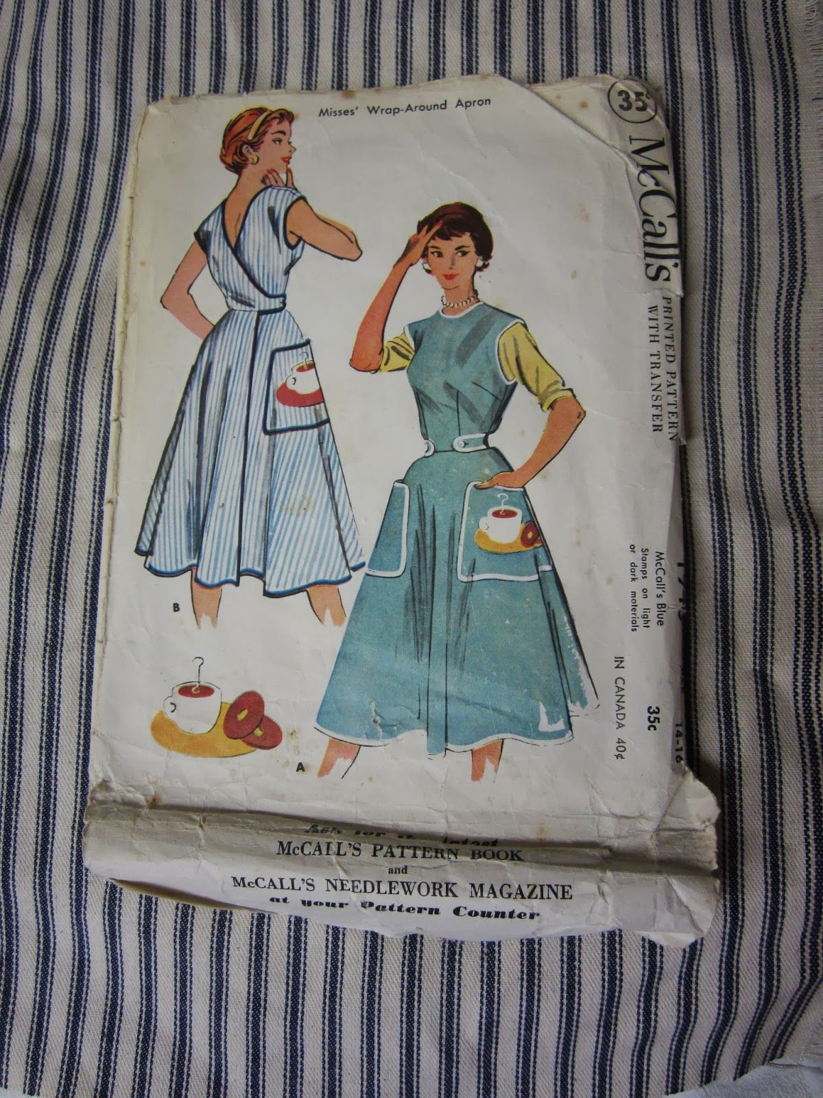 1930s wraparound overalls/apron - Google Search