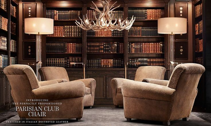 restoration hardware home library google search