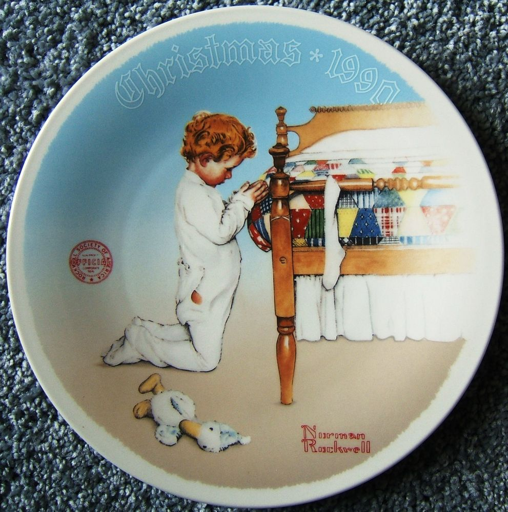 A Christmas Prayer Norman Rockwell Knowles Christmas Plate First ...