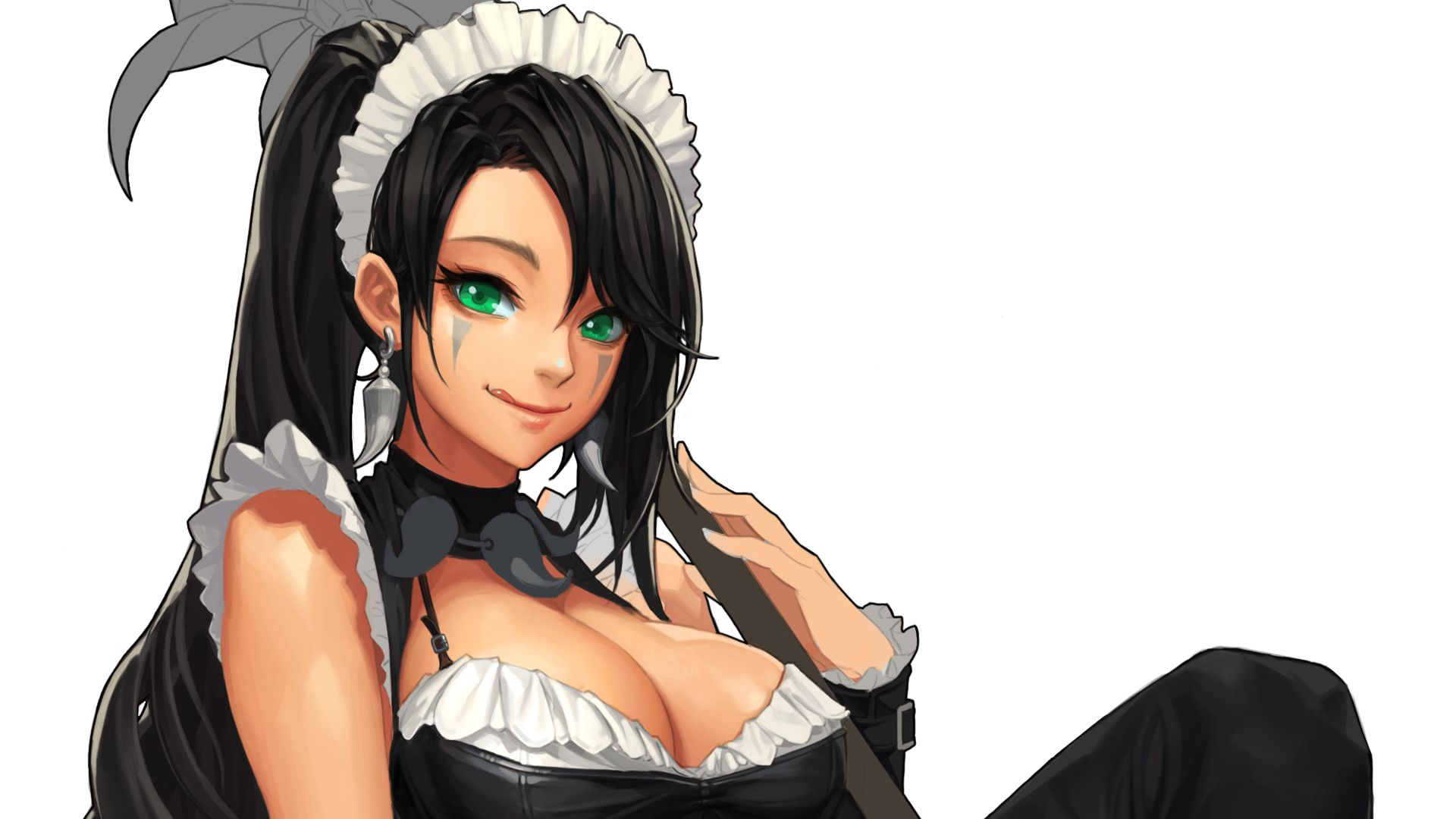 French Maid Nidalee League Of Legends Wallpaper League Of