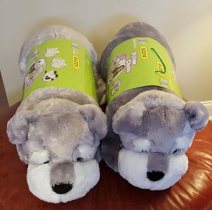 Kellytoy Large Stuffed Animal Plush Dog Schnauzer Puppy Pillow Toys