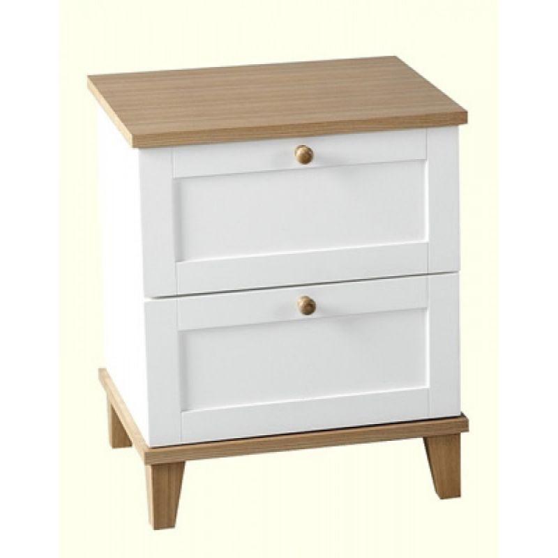 Arcadia 2 Drawer Bedside Chest Small Bedside Table Cheap Bedside Tables Side Table Wood