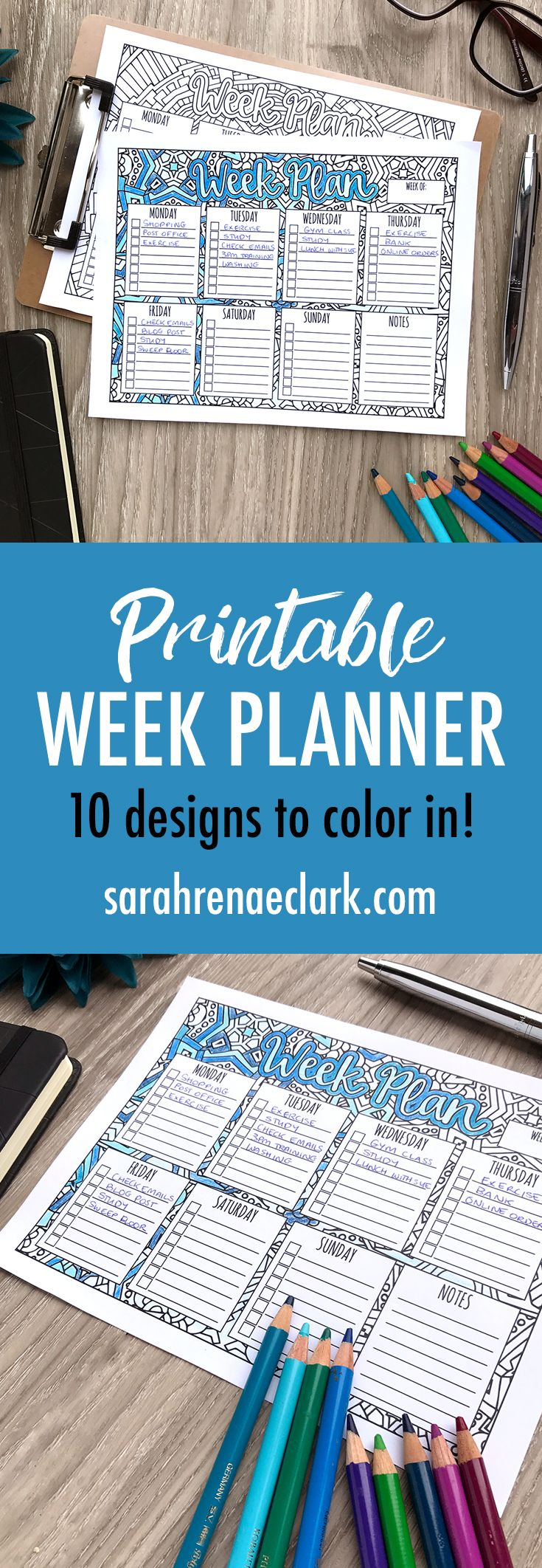 Week Planner   Imprimibles, Planificadores y Organizadores