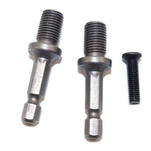 2 Pcs Drill Chuck 3 8 034 Hex Adapter W Lock Screw For Makita Bosch Impact Driver Bosch Drill Chucks Makita