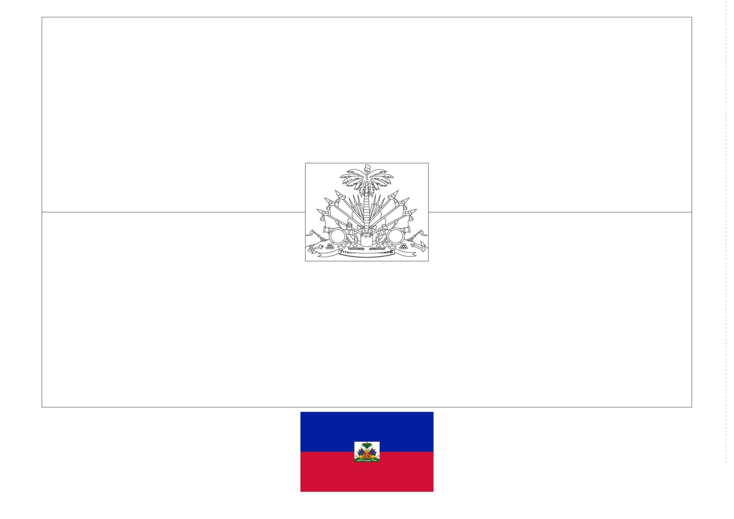 Haiti Flag Coloring Page Flag Coloring Pages Coloring Pages Haiti Flag