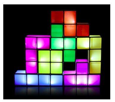 Sit In The Dark With The Tetris Stackable Desk Light Desk Lamp Lamp Lamp Light