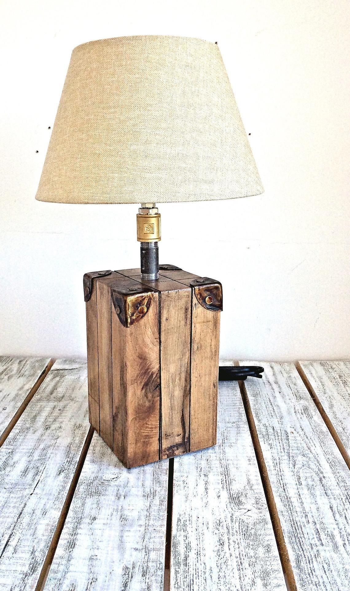 Bedside Lamp Table Lamp Wood Lamp Desk Lamp Rustic Lighting