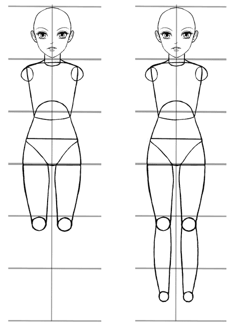 An easy anime body proportions tutorial manga tuts