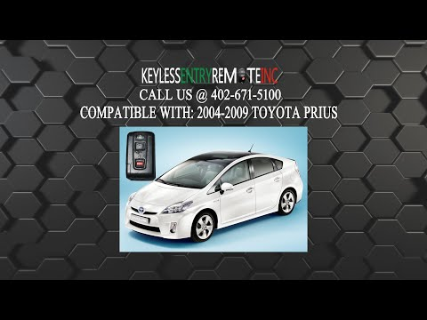 Prius Key Battery >> How To Change A 2004 2009 Toyota Prius Key Fob Remote