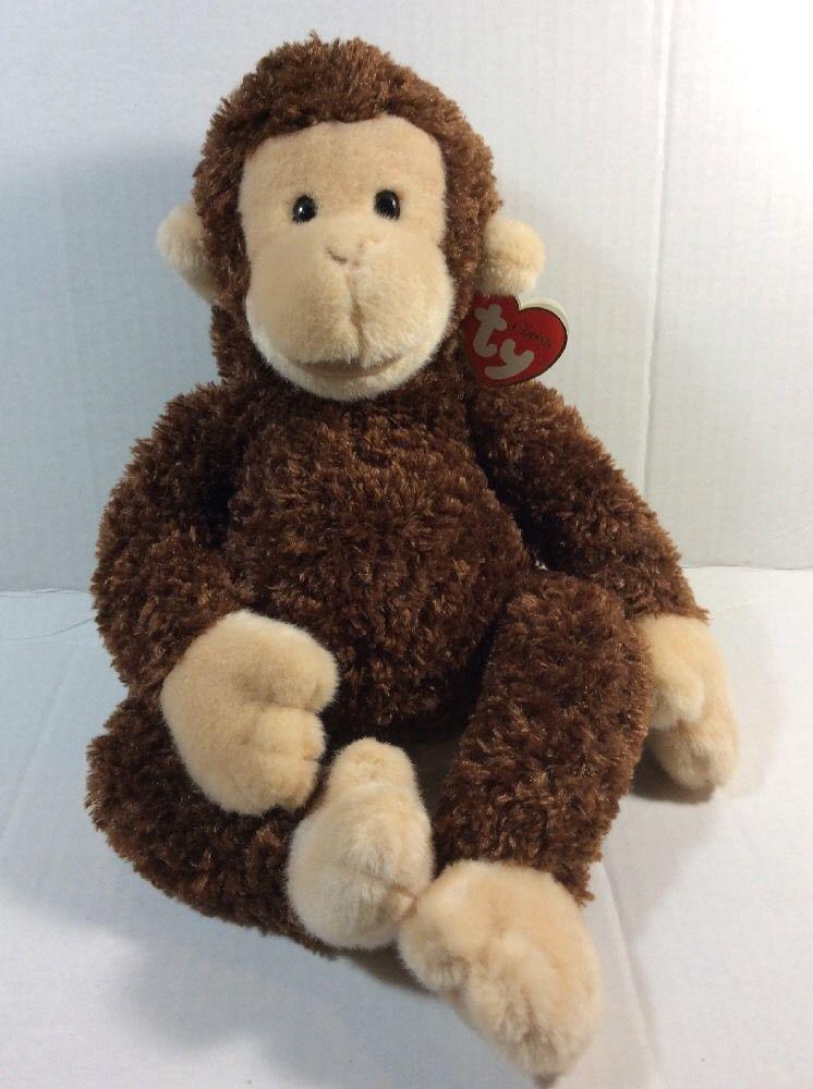 Ty Classic Twiddle Monkey Soft Toy Plush Chimp Tags 14