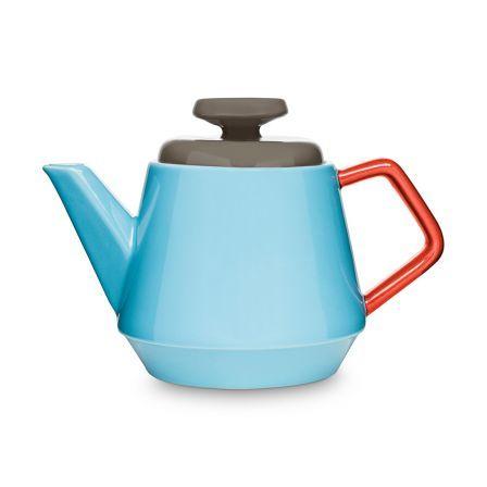 kaffee und teekanne pop t rkis rot braun pop f r mehr farbe auf dem tisch essen und. Black Bedroom Furniture Sets. Home Design Ideas