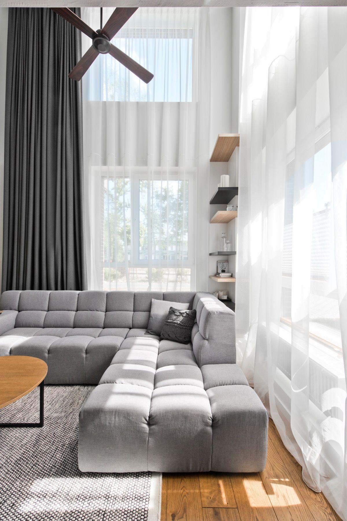 Open loft bedroom ideas  Chic Scandinavian Loft Interior  Dividing wall Loft design and