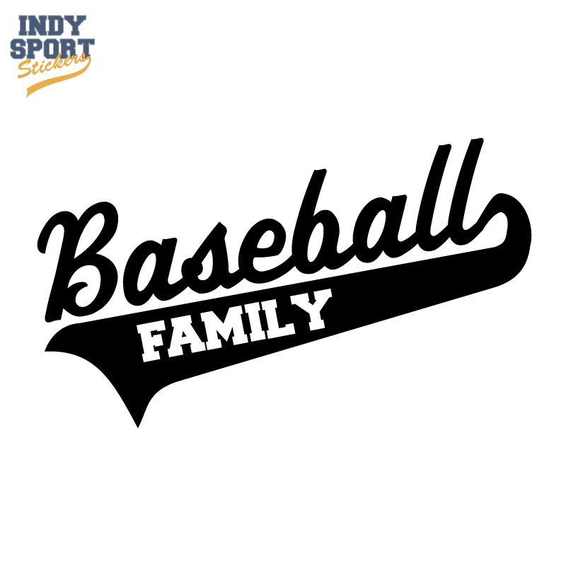 Baseball Script Text And Tail With Family Text Car Stickers And Decals Baseball Sticker Baseball Decals Mom Texts