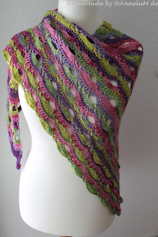 Virustuch, häkeln, crochet, kik Wolle | Handmade by AnneluM.de ...