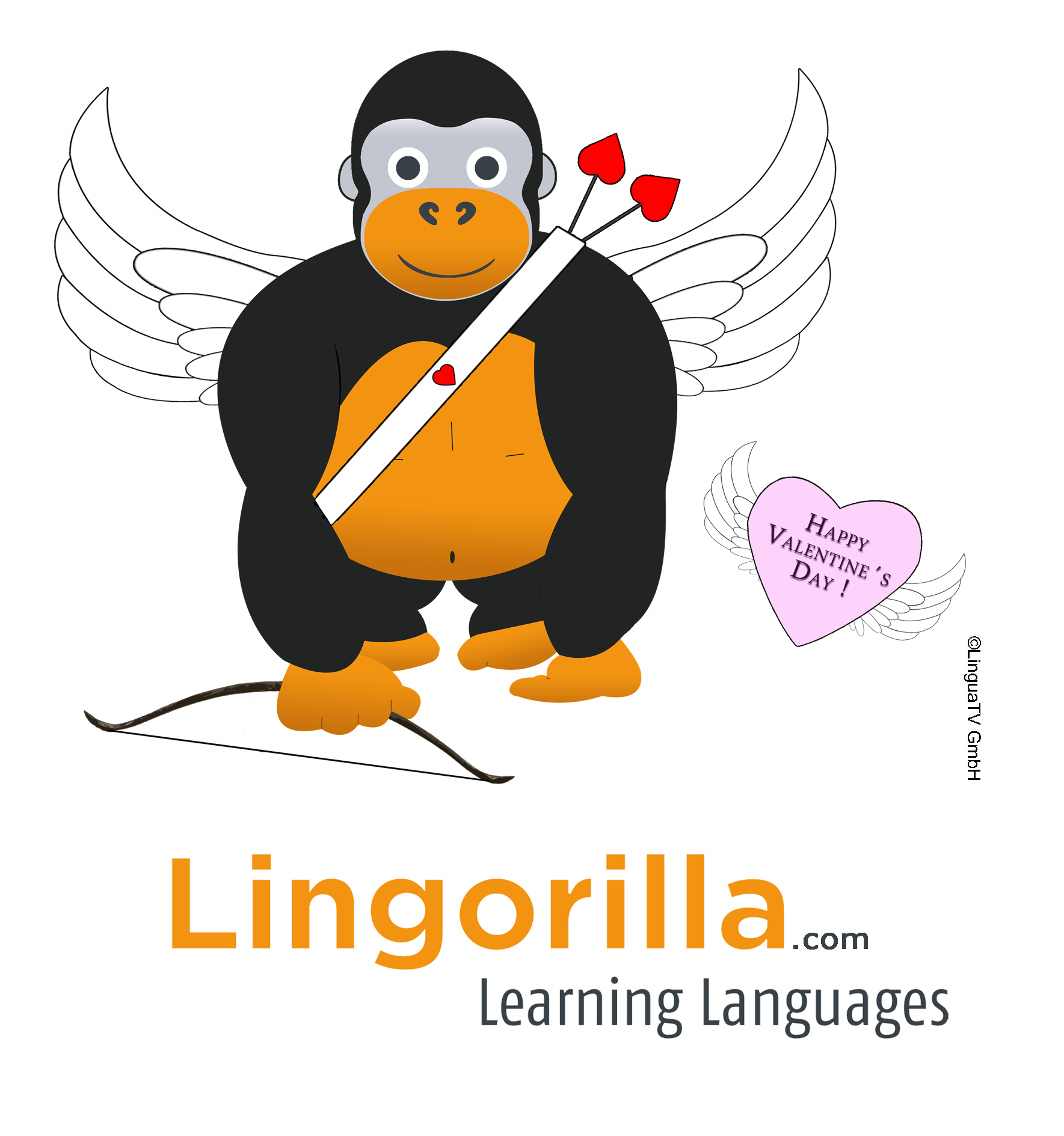 We Wish You A Happy Valentines Day And Lots Of Love Learn The Language Of Your Partner And Friends With Www Lingorilla Com Save 20 With Coupon Code