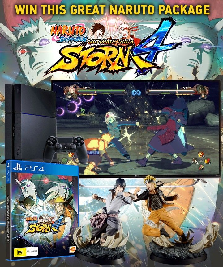 NARUTO SHIPPUDEN: Ultimate Ninja Storm 4 PS4 Comp!   Stuff to Buy