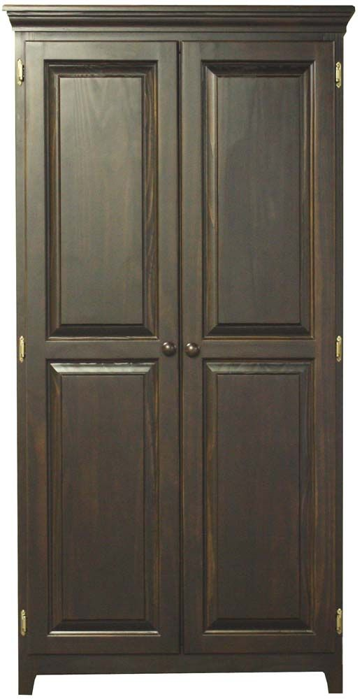 Pantries And Cabinets Pine 2 Door Pantry With 4 Adjustable
