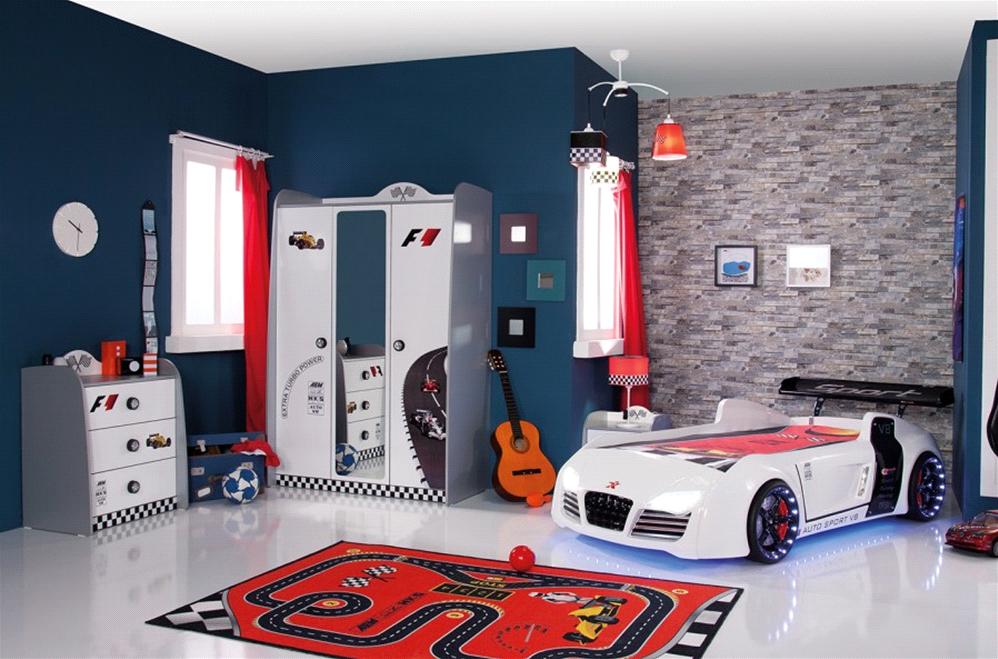 Kinderzimmer  Hier passt alles schon zusammen: Kinderzimmer Turbo weiß, 3-teilig ...