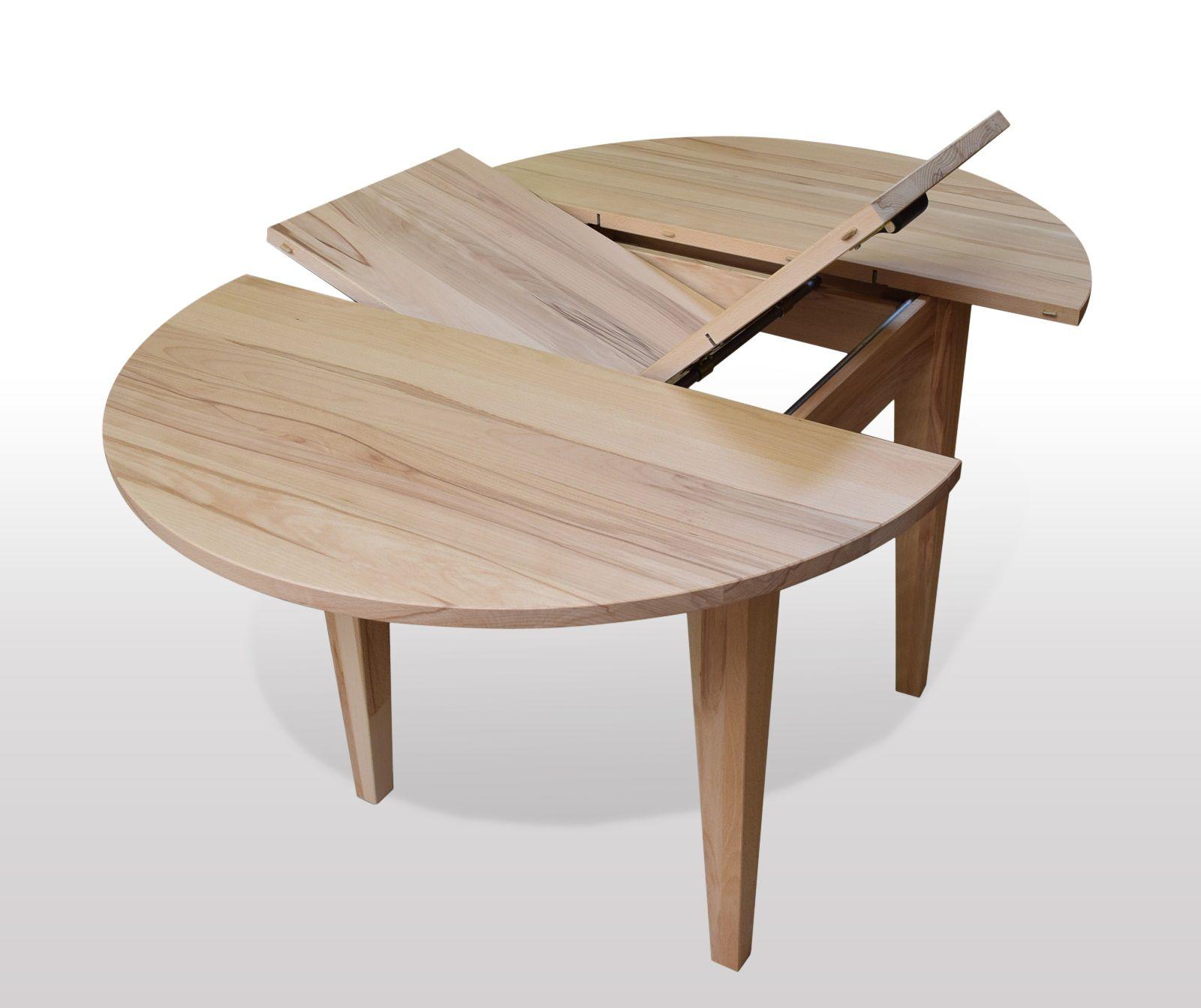 Pin von auf runder esstisch kernbuche for Massivholz tische zum ausziehen