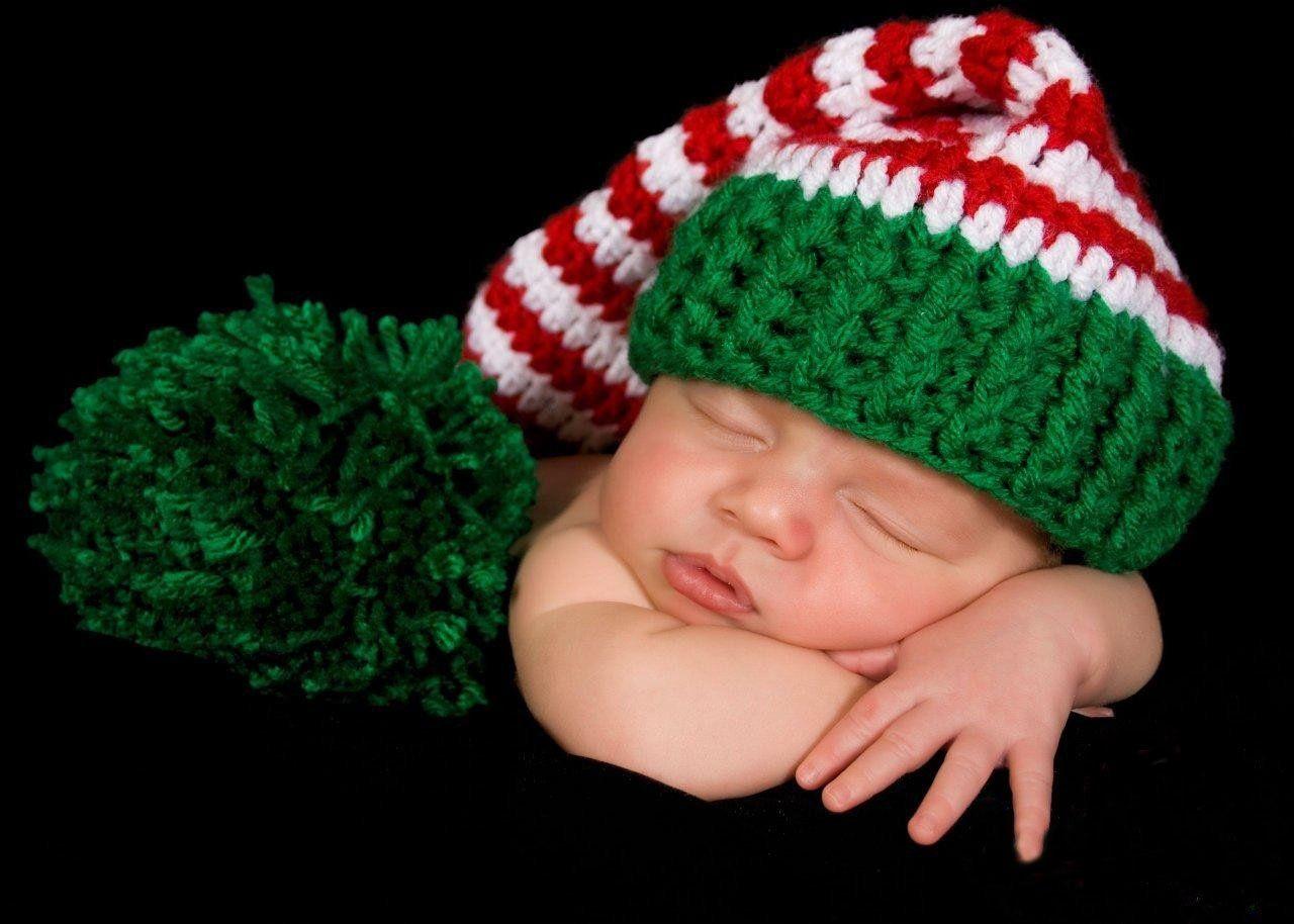 free christmas baby crochet hats | Lovely Cute Newborn Baby Crochet ...