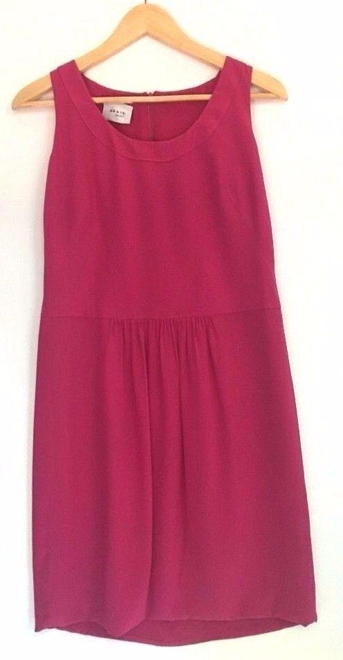 AKRIS Punto Hot Pink Sleeveless Silk Dress Size 8 Medium Day Resort Cocktail   eBay
