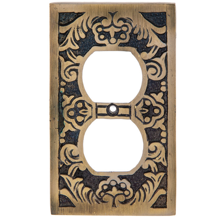 Get Antique Brass Floral Metal Socket Plate Online Or Find Other Switch Plates Products From Hobbylobby Com Antiques Antique Brass Mirror Wall Decor