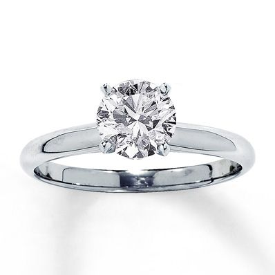 Diamond Solitaire Ring 1 1/4 carat Round-cut 14K White Gold - Jared Galleria of Jewelry PERFECT!!!!!