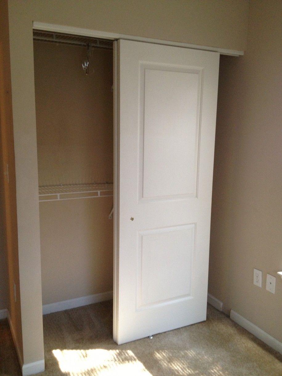Hanging Sliding Doors For Closets In 2020 Small Closet Door