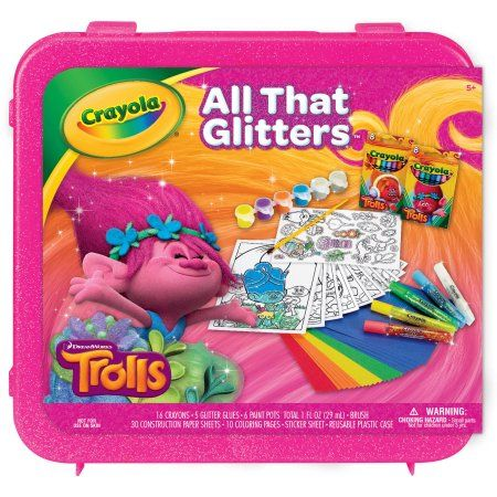 Trolls Crayola All That Glitters Case, Pink