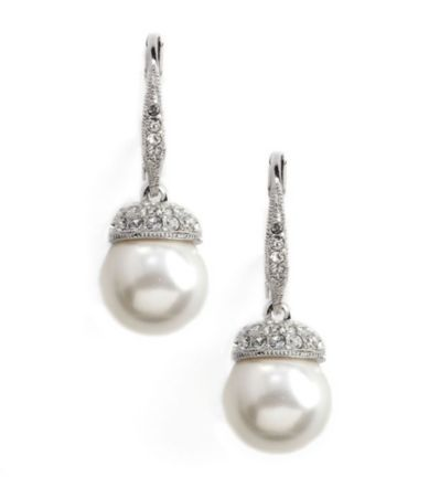 Nadri Pearl Pavé Drop Earrings Wedding And Love Stuff Pinterest